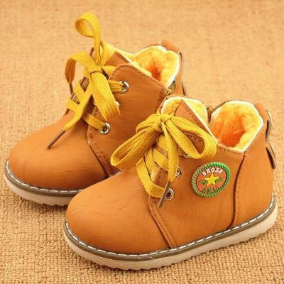 Children Autumn Boys Girls Kids Ankle Flats Winter Snow Boots
