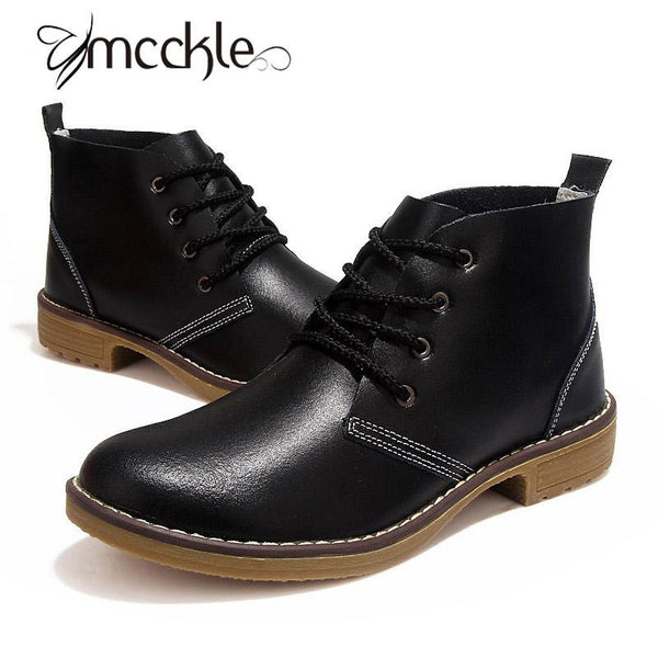Women's Motorcycle Ankle Boots Genuine Leather Autumn Winter Military