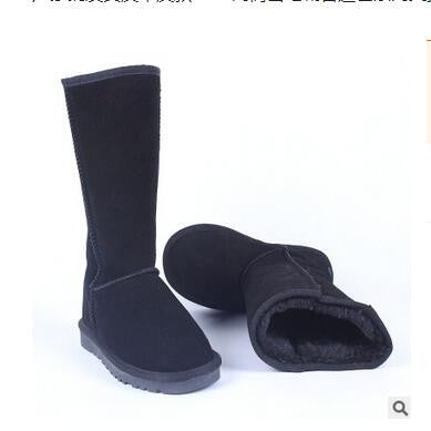 High Quality Genuine Leather Fur Warm Winter Snow Boots Plus Size 5-13