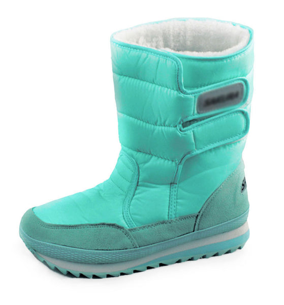 Winter Women Snow Colorful Warm Waterproof Boots Cotton In Tube Plus Size