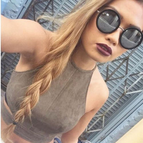 Summer Style Sexy Lace Up Women Cropped Tanks Tops Vest Camis Cute Sleeveless Bandage Crop Tops