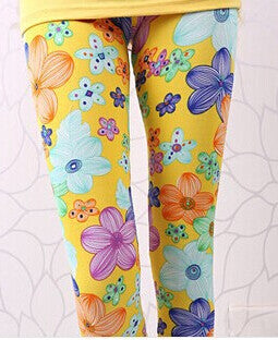 Elastic Design Vintage Graffiti Leggings Floral Patterned Print Leggings For Women Calzas Leggings