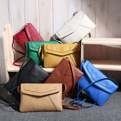 Envelope Bag Pu Leather Handbag Crossbody Sling Messenger Bag Purses Blue Black Brown 7 Colors