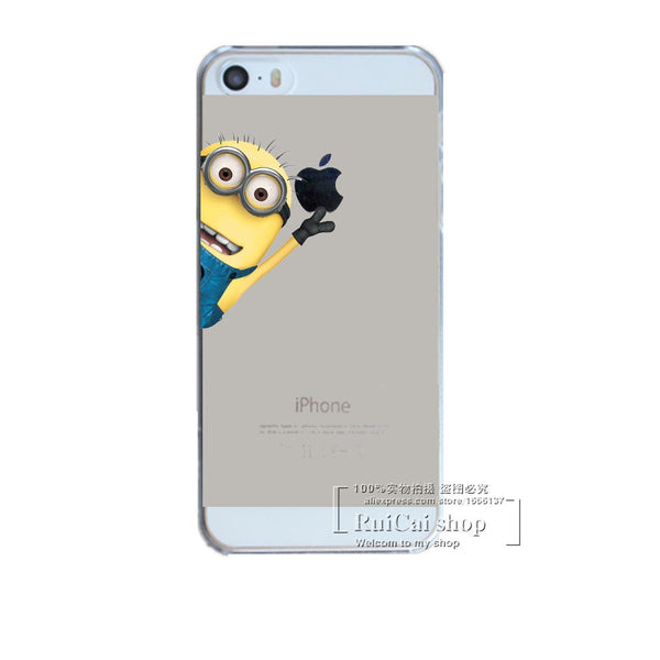 Despicable Me Yellow Minions Designs For Apple iPhone 7 7 Plus Case Hard Plastic Transparent