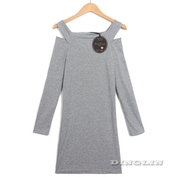 Winter Women Sweater Dress Women Clothes Ladies Long Sleeve Knitted Bodycon Stretch Party Dress