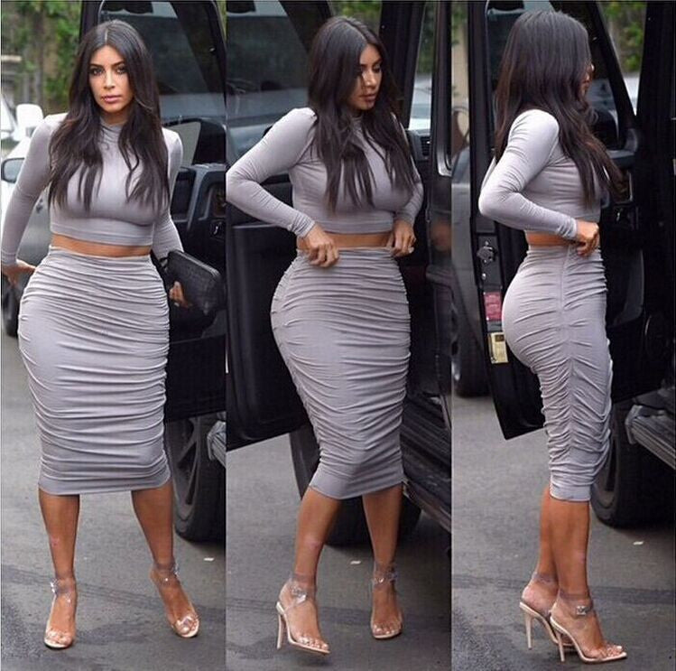 Spring Women Dress Sexy Celeb bandage Dress Long Sleeve 2 Piece Set Women Dresses