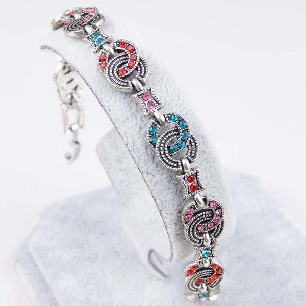 Retro Resin Multicolor Charm Latest Love Women Bracelets & Bangles