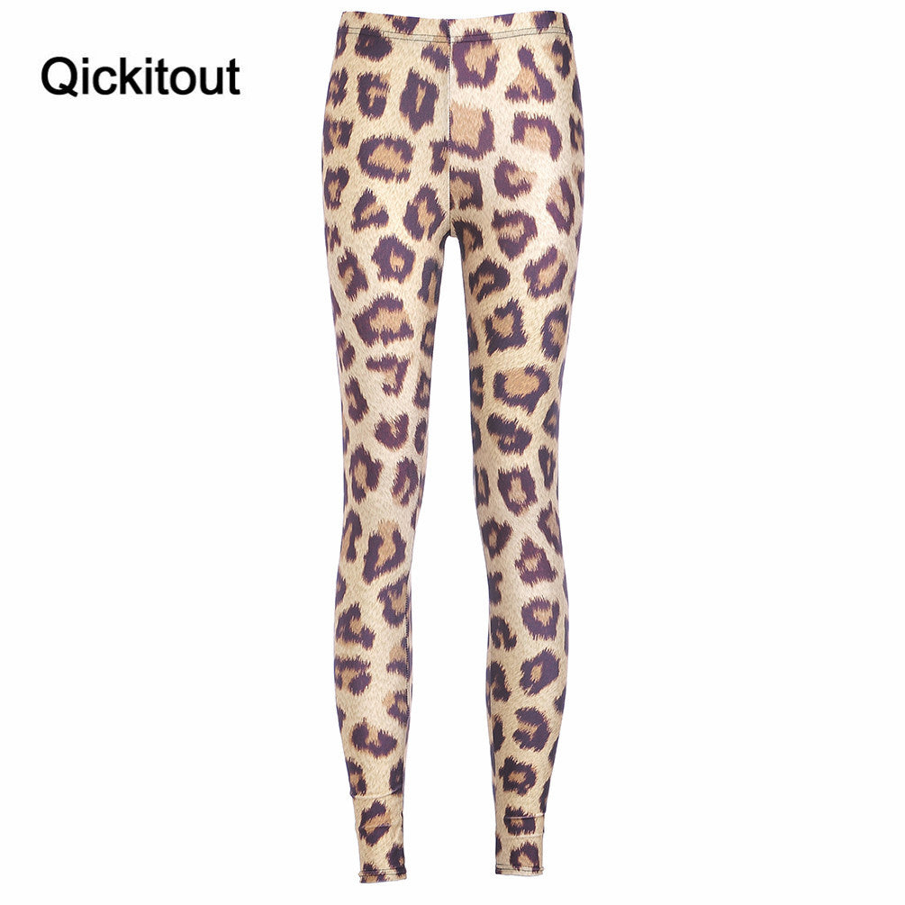 Leopard Gradient Printed Leggings