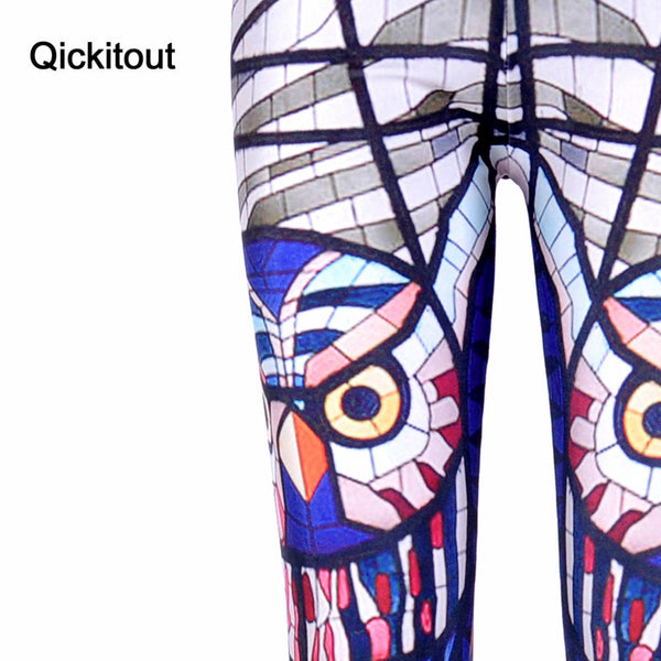 Glass Owl Leggings Digital Printed