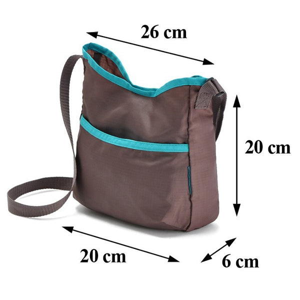 Nylon Hobos Casual Bags Women Crossbody Messenger Bag Handbags Ladies Gray Summer Shoulder Bag