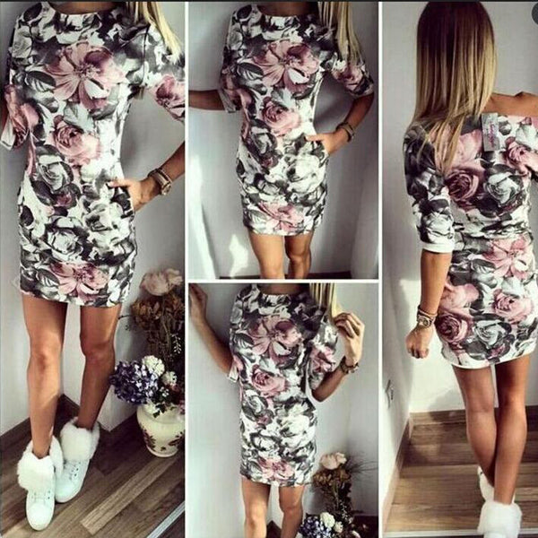 Summer Style 3XL Plus Size Women Clothing Sexy Casual Cartoon Print Party Slim Dresses