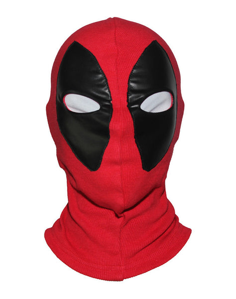 Marvel Superhero Deadpool Halloween Mask Breathable Fabric Faux Leather Full Face