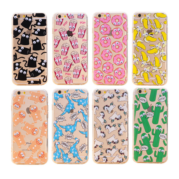 3D Eye Phone Capa Para Fundas Cover Case For Apple iPhone 7 7 Plus Silicone Soft TPU Sleeve Shell