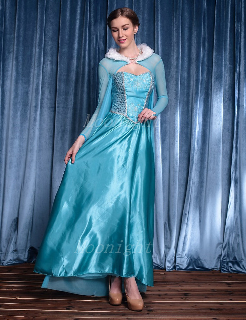 Princess Anna Elsa Queen Cosplay Halloween Women Costumes Masquerade Costume Fairy