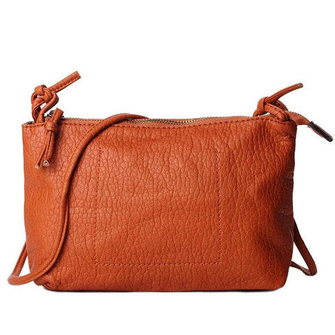 6 Colors Pu Leather All-match Thread Zipper Bag For Women Crossbody Handbags Cute Messenger Bag