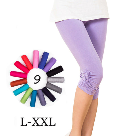 Women's Fitness Modal Cotton Leggings Plus Size Elastic Gothic Leggings Candy Colors Sport Legging