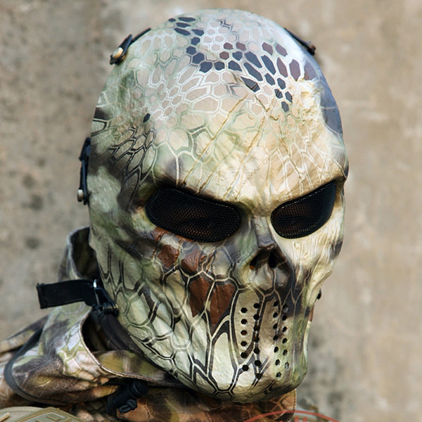 Black God Full Face Wargame Tactical Halloween Mask