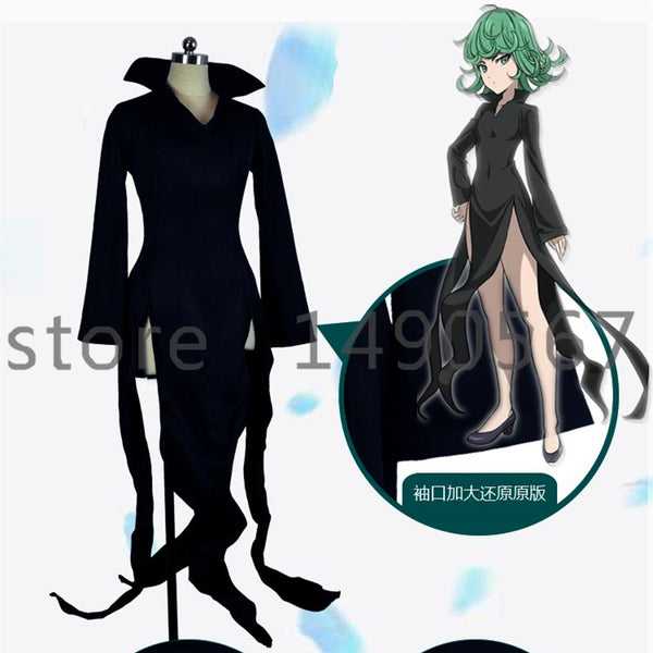 One Punch Man Tatsumaki Tornado Of Terror S Rate Hero Cosplay Halloween Costumes For Women