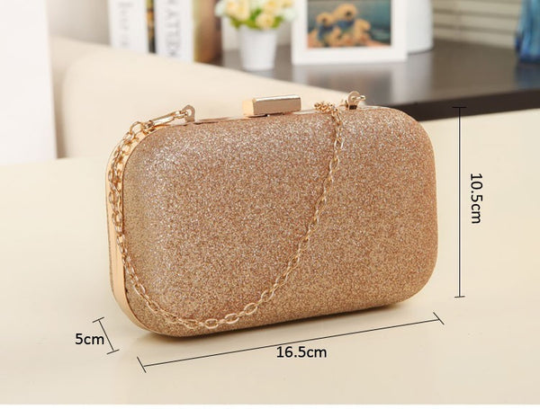 Mini Shoulder Crossbody Gold Clutch Ladies Evening Bag For Party Day