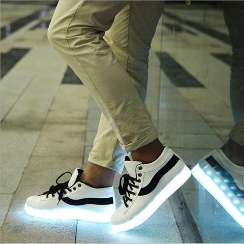 Casual Shoes Men Women Couple LED Lights USB Charging Shoe Fashion Casual Shoes