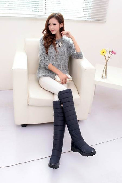 Keep Warm Snow Boots Fur Thigh Knee High Boots For Women
