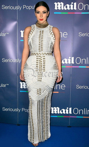 Amazing Kim Kardashian Style Runway Red Carpet Fashion Celebrity Party Maxi Long Bandage Dress