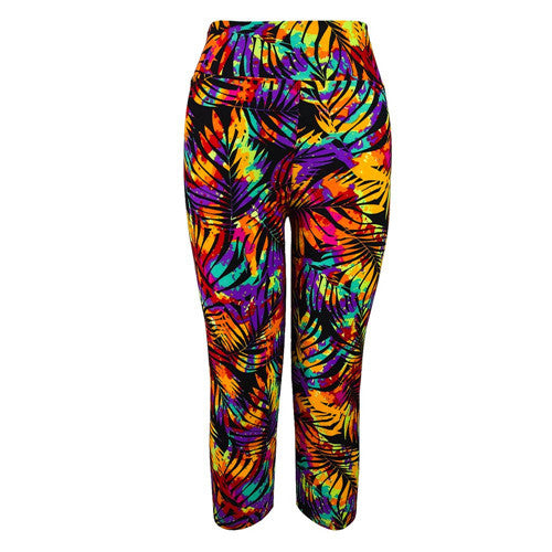 Fitness Mid Calf Elastic Pants Gym Running Leggings Sweatpants Women Printing Legging Jegging