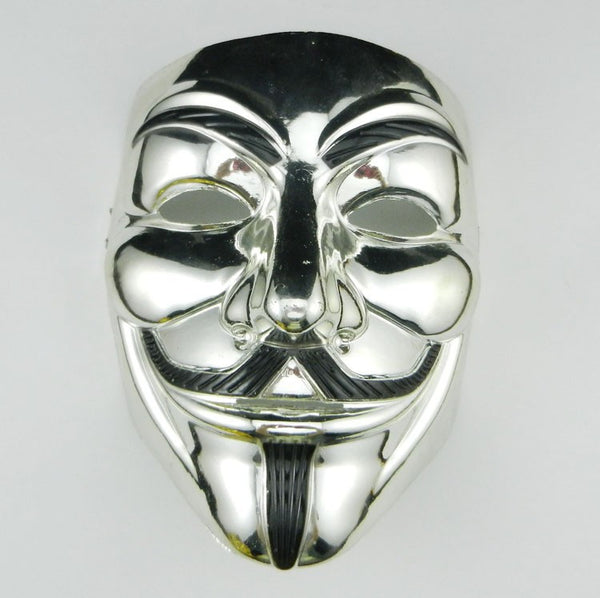 V For Vendetta Anonymous Movie Guy Fawkes Halloween Gold Silver Mask