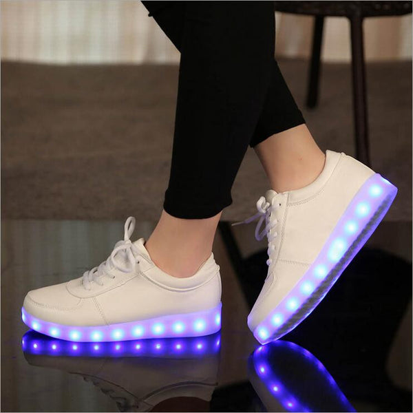 Colorful Glowing Shoes Lights Up LED Luminous Shoes Sole Size 27-46 For Adults Neon Casual Shoes