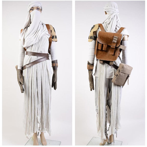 Star Wars 7 The Force Awakens Rey Uniform Jedi Halloween Cosplay Costumes For Women