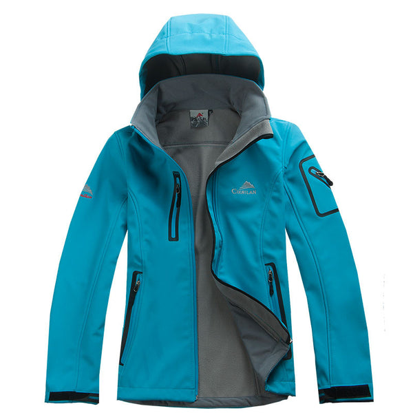 Female Outdoor Waterproof Climbing Jacket Warm Breathable Windproof Sport Outdoor Coat