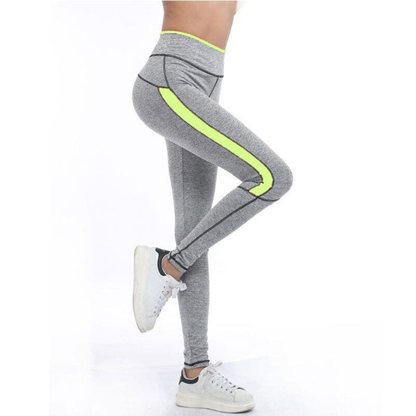 Running Sport Pant Fitness Leggings Light Grey Pink Spring Gym Activewear Leggings