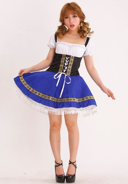 Rushed Sexo Catsuit Oktoberfest Beer Halloween Carnival Women Costumes