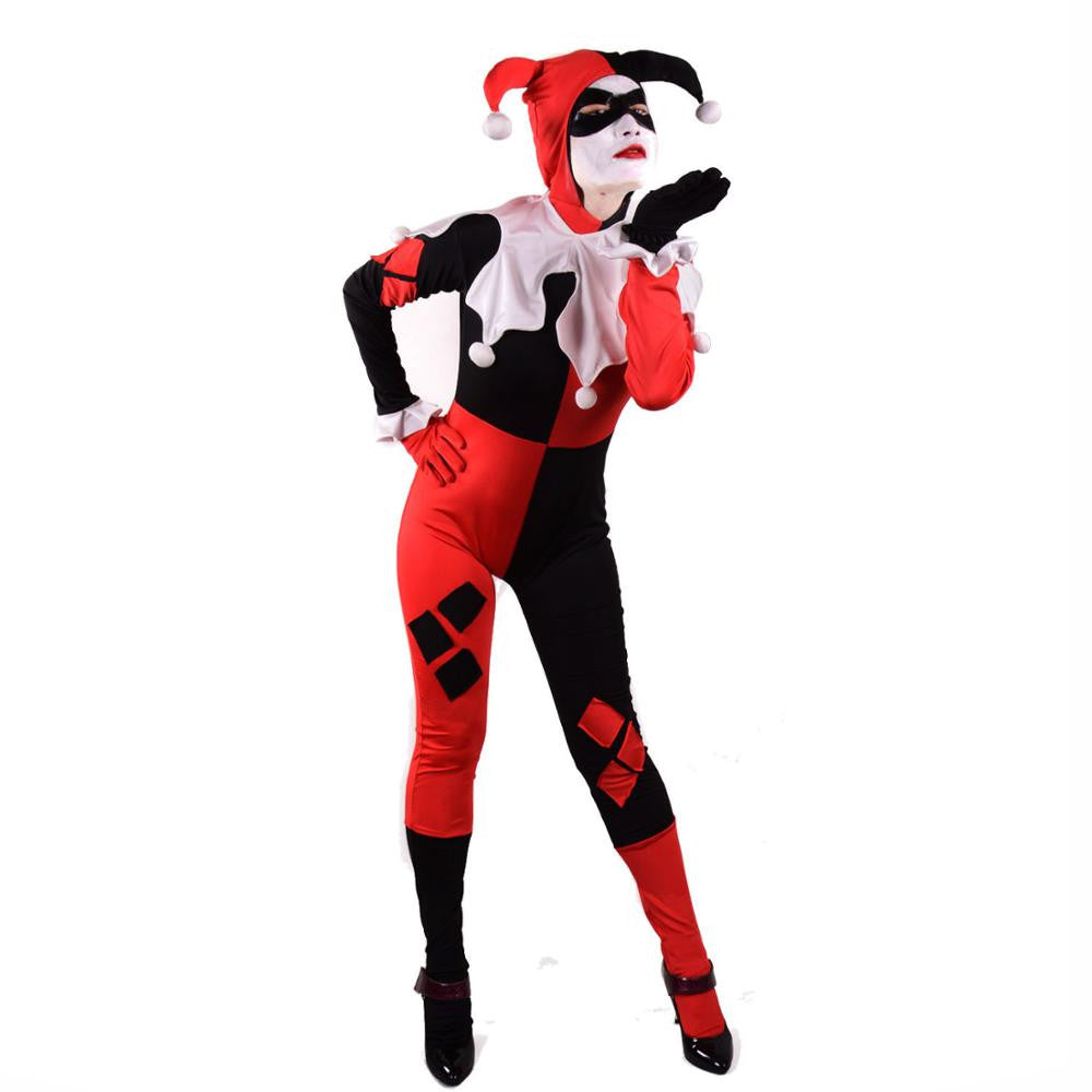 harley quinn clown halloween women costumes – intel retro