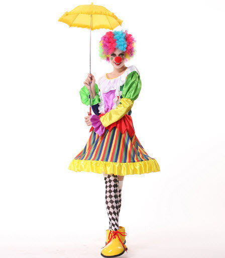 Clown Christmas Birthday Party Magic Cosplay Halloween Costumes For Women