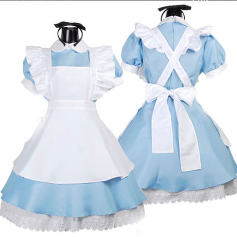 Alice In Wonderland Maid Halloween Women Costumes