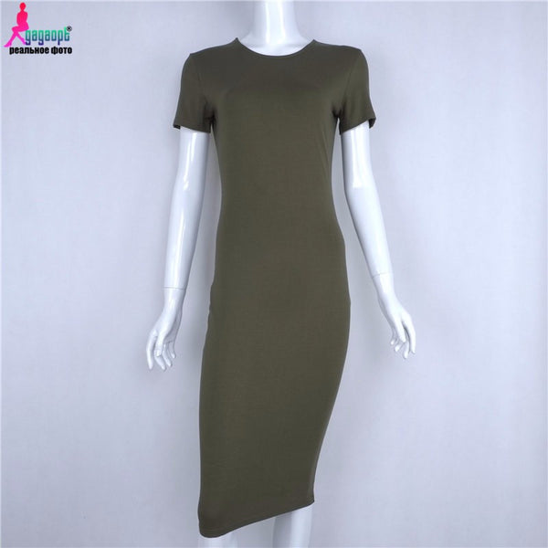 Autumn Winter Sexy Office Bandage Dress Black Army Green Gray Party Dresses Fall Women