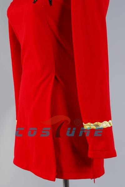 Star Trek Duty Uniform TOS Red Halloween Cosplay Costumes For Women Badge