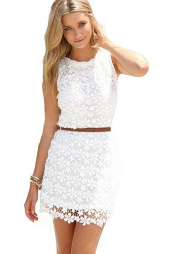 Autumn Dresses Women Black White Lace Dresses Body Package Hip Sexy Dress