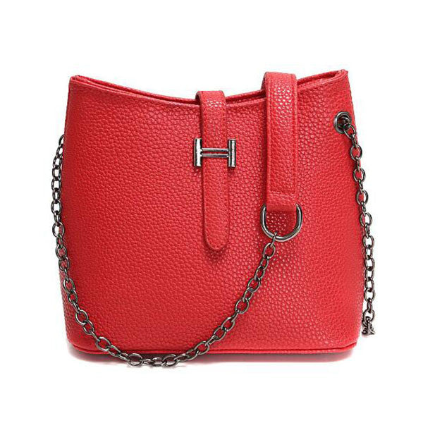 Women Shoulder Pu Leather Crossbody Casual Chains Messenger Small Bag