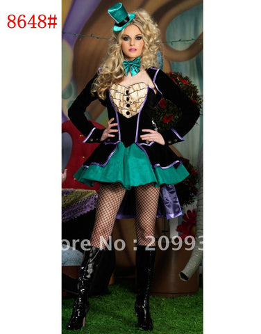 Mad Hatter Alice In Wonderland Magician Halloween Women Costumes