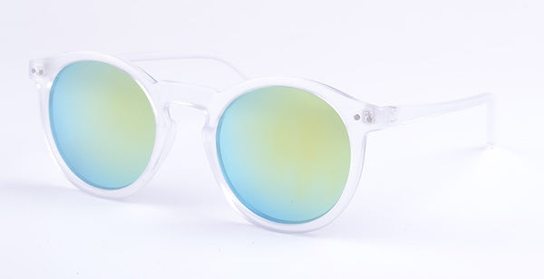 Women Classic Round Shaped Sun Shades Glasses Mirrored Gradient Sunglasses