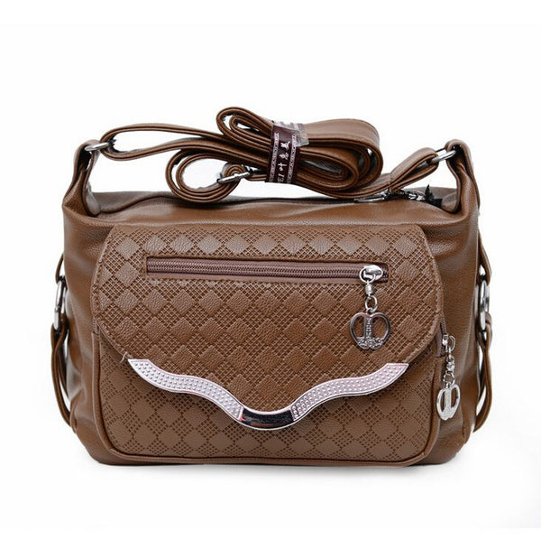 Leather Handbag Mid-age Models Shoulder Bag Crossbody Mom Handbags