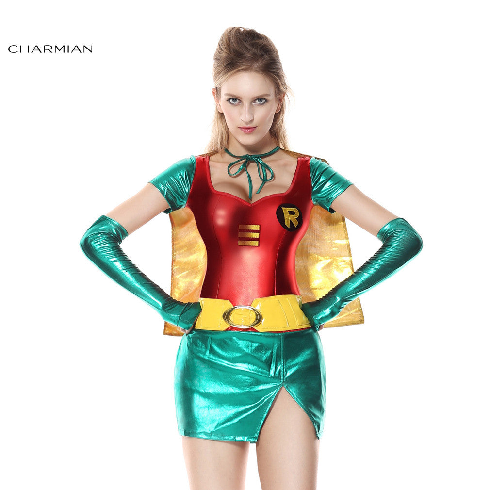 Robin Super Hero Anime Carnival Cosplay Halloween Costumes For Women