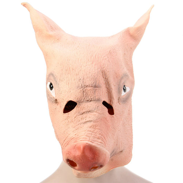 Scary Masks Full Face Feral Ghastliness Thriller Punk Adults Silicone Pig Head Mask For Halloween