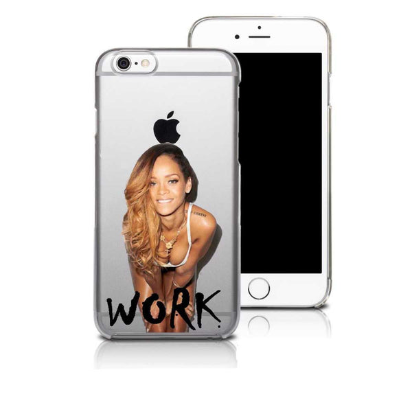 Rihanna Drake Work Transparent Hard Plastic Back Case Cover For Iphone 7 7 Plus