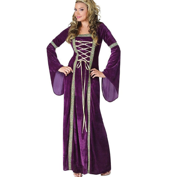 Purple Renaissance Queen Halloween Cosplay Costumes For Women