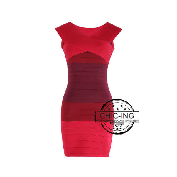 Bandage Dresses Sexy Slash Neck Off Shoulder Summer Sleeveless High Waist Mini Bodycon Dress