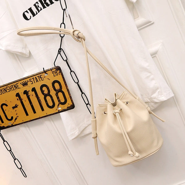 Women Bucket Bag Candy Color Women Shoulder Bags Quality Pu Leather Crossbody Bag Female Handbags
