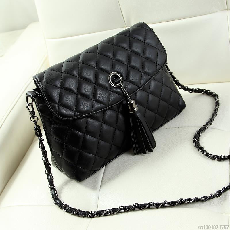 Style Retro Minimalist Crossbody Bag Fashion Small Women Shoulder Bag Tassel Women Messenger Bag